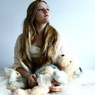 "Stephanie with her bear. by Alexa ""Lexi"" Platts"