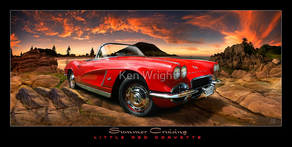 Summer Cruising ~ Little Red Corvette by Ken Wright