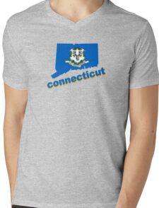 connecticut state flag Mens V-Neck T-Shirt