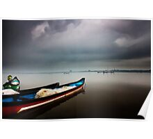 boats and monsoon Poster
