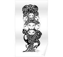 Feline Totem Poster