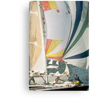 Racing yachts Canvas Print