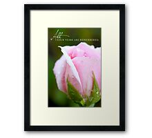 All Your Tears Are Remembered Framed Print
