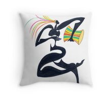 Drum Dancer Throw Pillow