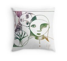 Sisters Color Throw Pillow