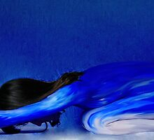 A STRETCH IN BLUE bodypainting photo by William Rylott by William Timothy Rylott