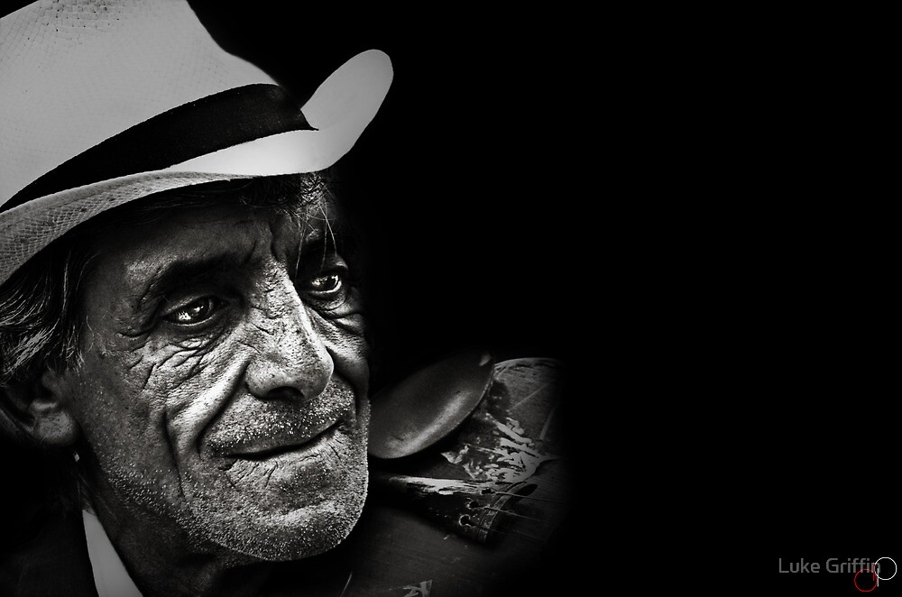 Faces of Venice - The Busker by Luke Griffin