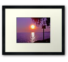 Beautiful Sunset in Greece Framed Print