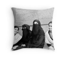 Smiles - Visible & Invisible Throw Pillow