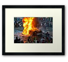 Post Game Riot 1  Framed Print