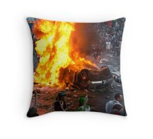 Post Game Riot 1  Throw Pillow