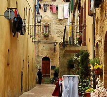 Wash Day-Pienza, Italy by Deborah Downes