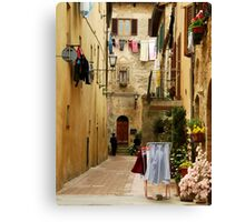 Wash Day-Pienza, Italy Canvas Print