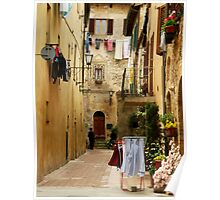 Wash Day-Pienza, Italy Poster