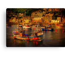 At Looe Canvas Print