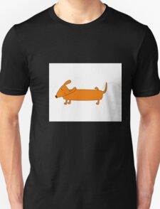 Cute pissing dachshund Unisex T-Shirt