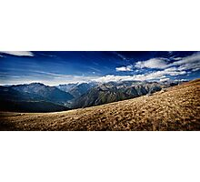 Montagne in Panorama Photographic Print