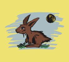 Rabbit illustration One Piece - Short Sleeve