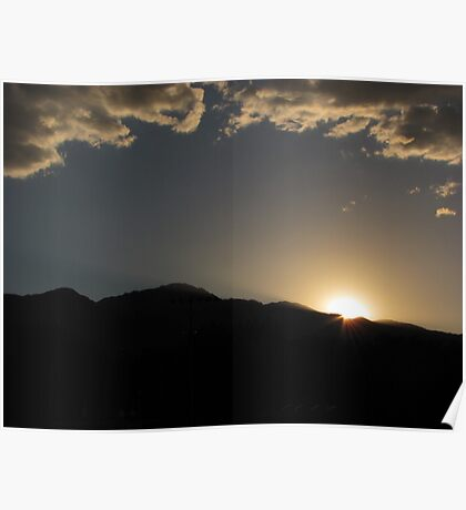 """""""Sunset With Cloud Helmet"""" Poster"""