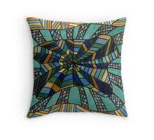 156 - DESIGN 03 - DAVE EDWARDS - WATERCOLOUR & COLOURED PENCILS - 2006 Throw Pillow