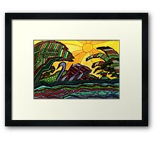 153 - SWAN - DAVE EDWARDS - WATERCOLOUR - 2006 Framed Print