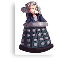 "Doctor Who - Capaldi On Davros ""Chair"" Canvas Print"
