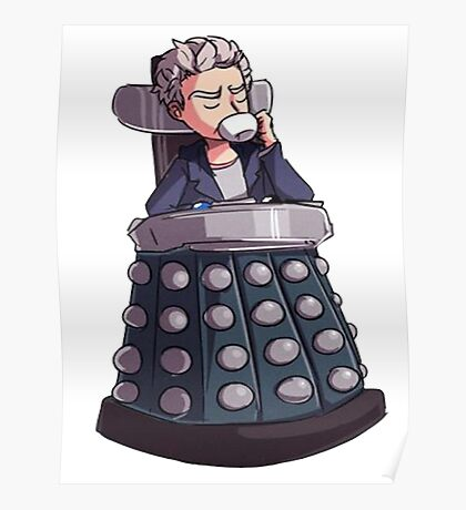 """Doctor Who - Capaldi On Davros """"Chair"""" Poster"""