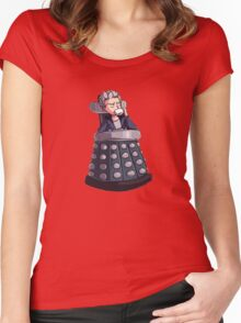 "Doctor Who - Capaldi On Davros ""Chair"" Women's Fitted Scoop T-Shirt"