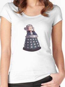 """Doctor Who - Capaldi On Davros """"Chair"""" Women's Fitted Scoop T-Shirt"""