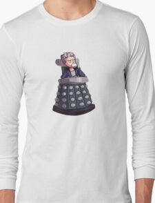 "Doctor Who - Capaldi On Davros ""Chair"" Long Sleeve T-Shirt"