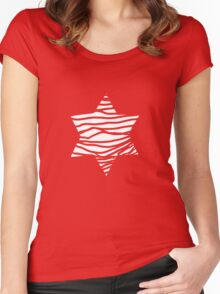 big white star Women's Fitted Scoop T-Shirt