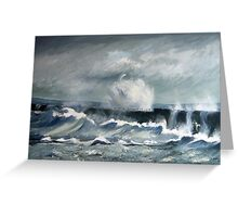 Middleton Break Water, Hartlepool, North East England Greeting Card