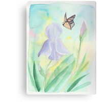Once upon a time, in a cute garden Canvas Print