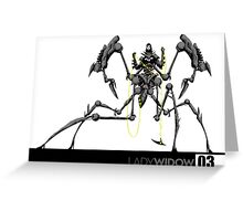 Killborg03: The Lady Widow Greeting Card