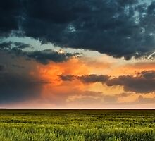 Storm Clouds Over The Eastern Plains Of Colorado by John  De Bord Photography