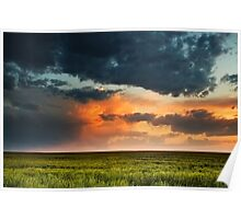 Storm Clouds Over The Eastern Plains Of Colorado Poster