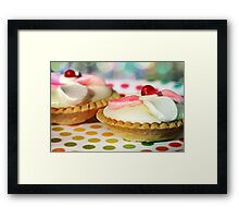Polka dots and Pie Framed Print
