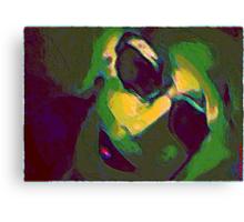 Un orange sur la table, ta robe sur le tapis .Toi dans mon lit. Doux présent du présent . Fraîcheur de la nuit Chaleur de ma vie...   Canvas Print