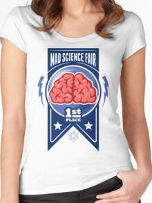 First Place at the Mad Science Fair Color Women's Fitted Scoop T-Shirt