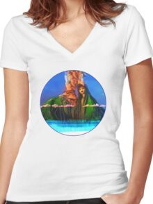 I have a lava dream Women's Fitted V-Neck T-Shirt