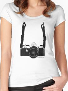 Vintage 35mm SLR Camera Pentax MX  Women's Fitted Scoop T-Shirt