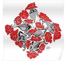 Koi Roses Poster