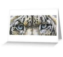 Eye-Catching Snow Leopard Greeting Card