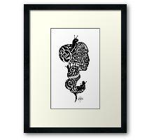 Snail Mask Framed Print
