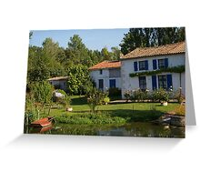 House By The Canal Greeting Card
