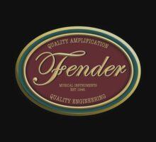 Oval Vintage Fender Kids Clothes