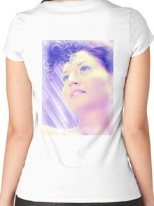 Blue woman Women's Fitted Scoop T-Shirt