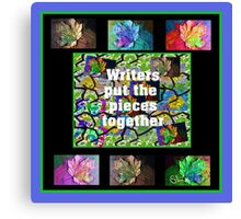Writers Put The Pieces Together Canvas Print