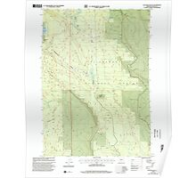 USGS Topo Map Oregon Location Butte 280559 1999 24000 Poster