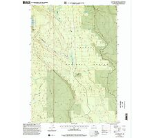 USGS Topo Map Oregon Location Butte 280559 1999 24000 Photographic Print